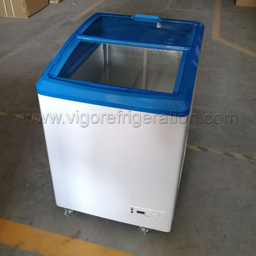 DC Freezer with Transparent Door