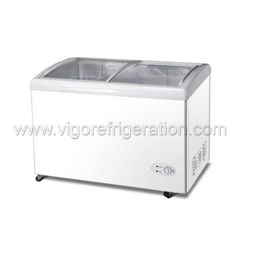 335L Glass Door DC Freezer for Ice Cream