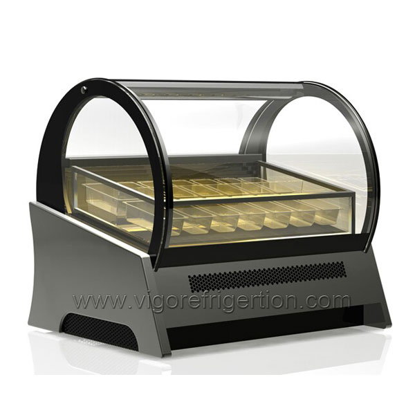 ice cream horizontal display freezer