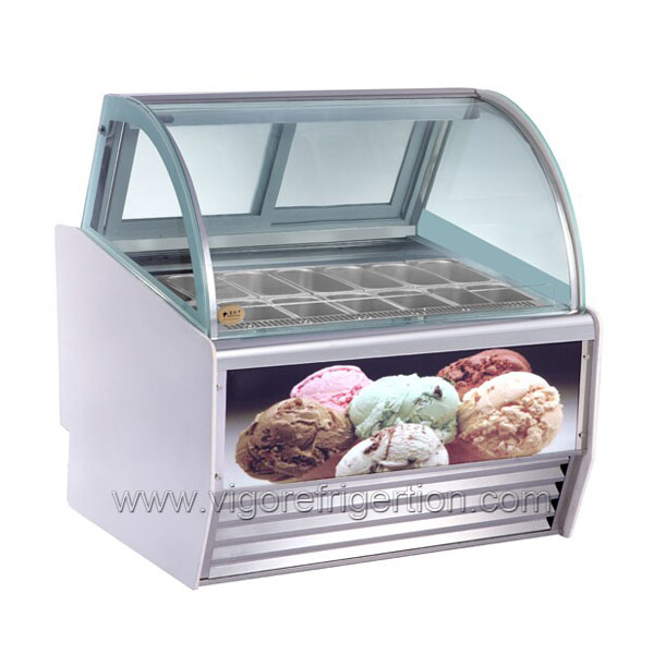 The Hottest Sale Mini Ice Cream Display Freezer