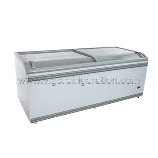 island display chest freezer for shop