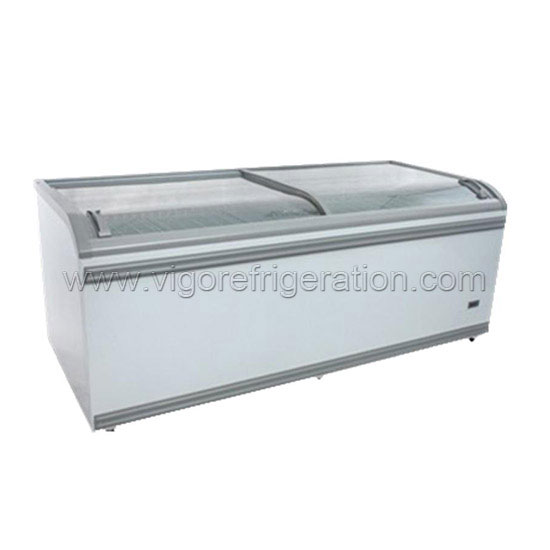 820L ice cream island freezer