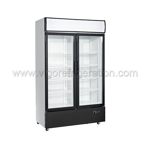 1280L DOUBLE DOOR VERTICAL DISPLAY COOLER